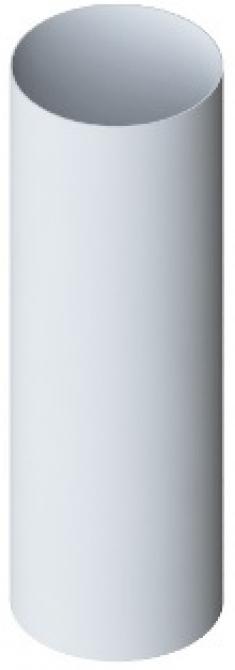 Труба водосточная с муфтой ПВХ, цвет белый, длина 4 м, диаметр 95 мм