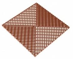 Решетка с дополнительным обрамлением 400х400х18 (коричневый)