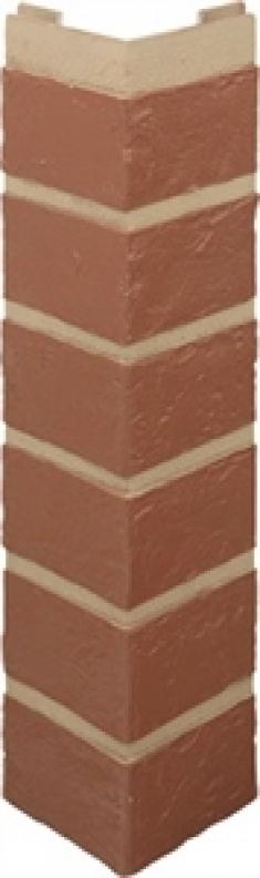 Наружный угол кирпич (красный), 0,47 х 0,1м