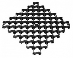 Решетка усиленная с высоким профилем 500х500х35 (черный)