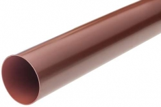 Труба водосточная с муфтой ПВХ, цвет Красный, 3м