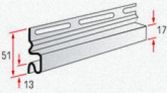 """Планка """"начальная"""" Т-11, 3000 мм, цвет Белый"""