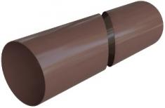 Труба водосточная ПВХ, цвет коричневый, длина 4 м, диаметр 95 мм