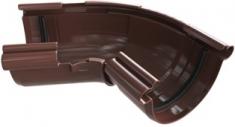 Угол жёлоба 120-145° ПВХ, цвет Коричневый